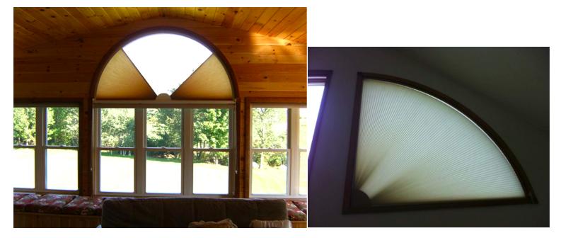 Half & Quarter Round  window blinds